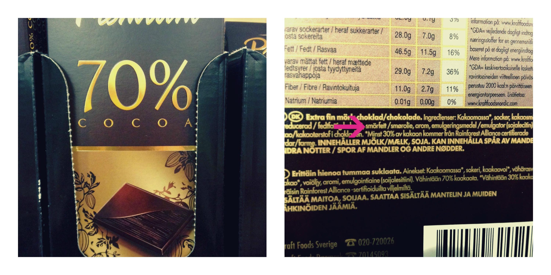 laktosefri mørk chokolade